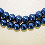 Beadia 3 Str(approx 580pcs) Fashion 4mm Round Glass Pearl Beads Dark Blue Color DIY Spacer Loose Beads