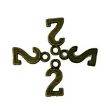 Beadia 100PCS Antique Bronze Alloy Charms 7x15mm Number 2 Pendants DIY Accessories