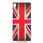 M Word Flag Pattern Painted Transparent Frosted PC Material Phone Case for Sony Z3