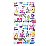 Owl Party Pattern PU Leather Full Body Case with Stand and Card Slot for Sony Xperia C4