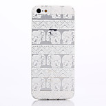 Elephant Printing Pattern TPU Material Soft Phone Case for iPhone 5/5S