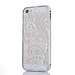Silberrand Metallrahmen und Halbblumenmuster pc-Backplane kann combo Material Telefonkasten für iphone 5/5 s ziehen