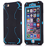 2015 new for iPhone6 three in one robot shell (silica gel + blue PC)