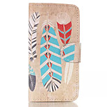 Feather Patterns Pattern Retro Quality PU Material Case for iPhone 6
