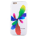 Colorful Feathers Pattern Slim TPU Material Phone Case for iPhone 6