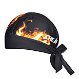 Bandana Bike Cycling,WEST BIKING® Unisex Outdoor Soft Wicking Kerchief Breathable Fire Pattern Polyester Pirate Kerchief Cycling Accessories