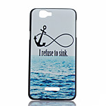 Sea Anchor Pattern PC Material Phone Case for Wiko RAINBOW