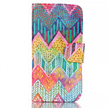 Color Wave Patterns Pattern Retro Quality PU Material Case for iPhone 6