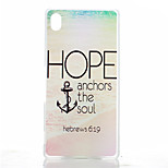 Letter Anchors Pattern Painted Transparent Frosted PC Material Phone Case for Sony Z4