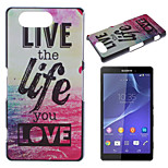 Life Pattern Painted PC Material Phone Case for Sony Z3 Mini