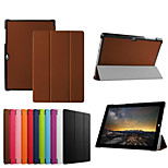10.8 Inch Triple Folding Pattern High Quality PU Leather Case for Microsoft Surface 3(Assorted Colors)