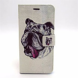 Puppy Pattern PU Leather Case Cover with Stand and Card Holder for iPhone 6