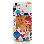 patrón de elefante TPU teléfono material suave para el iphone 5 / 5s