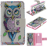 Personality Owls Pattern PU Leather Full Body Case with Stand and Protective Film for Sony Xperia E1