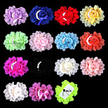 2PCs DIY Handmade Pearl Bowknot Chiffon Cloth Flowers for Headbands, Scrapbooking and More Decoration(Random Delivery)