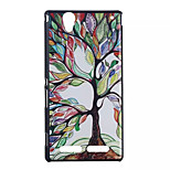Tree Pattern Hard Cover Back Case Plastic for Sony Xperia T2 Ultra