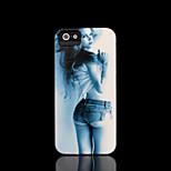 / caso del iphone 4 s belleza la cubierta del patrón para el iphone 4 carcasa