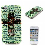 COCO FUN® English Cross Pattern Soft TPU IMD Back Case Cover for iPhone 4/4S