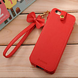 Trendy Princess Style PU Leather Protective Case with Bowknot Strap for iPhone 6