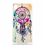 Campanula Pattern Painted Transparent Frosted PC Material Phone Case for Sony Z4