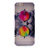 Bespectacled Cat Pattern Painted Slim TPU Material Phone Case for iPhone 6