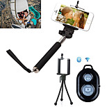 3in1 Selfie Extendable Camera Handheld Monopod with Mobile Phone Tripod Stand and Bluetooth Remote Shutter for iPhone