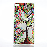Colored Trees Pattern of Transparent Frosted PC Material Phone Case for Huawei P8