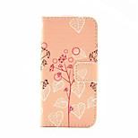 Tree Ieaf  Pattern PU Leather Phone Case For iPhone 5/5S