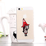 Cartoon Red Hat Girl Pattern TPU Soft Case for iPhone 5/5S
