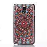 Červené květiny vzor pc telefon pouzdro pro Samsung Galaxy poznámky 4