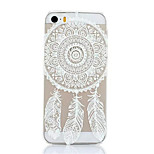 Campanula Feather Pattern Plastic Hard Back Cover For iPhone5/5S