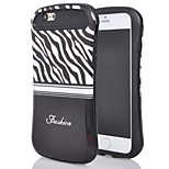 The new for iphone6plus light oil stick design small waist in black and white zebra mobile phone shell