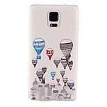 vrući zrak balon obrazac TPU materijal mekana telefon slučaj za Samsung Galaxy bilješci 4