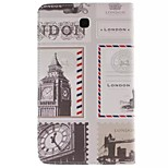 London Picture PU Leather Full Body TPU Case with Card Holder for Samsung Galaxy 3200/Tab 3
