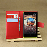 Litchi Around Open Bracket Leather Phone Wallet Card Suitable for Nokia Lumia 1020(Assorted Color)