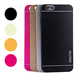 Kinston® Rainbow Two Lines Brushed Aluminium Alloy Pattern Hard Case for iPhone 6 (Assorted Colors)