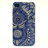 Blue and White Pattern Transparent Frosted PC Back Cover  For iPhone 4/4S