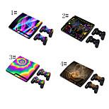 Skóra pokrywa winylu naklejki naklejki dla PS3 Slim + 2 kontrolery