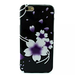 White Flowers Pattern TPU Phone Case For iPhone 6