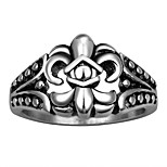 316L Stainless Steel Ring Men Biker Floral Finger Rings Cubic Zircon Man Jewelry