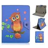 Owl Pattern Magnetic Flip Stand Universal PU Leather Case for 8 Inch Tablet PC