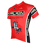 PaladinSport Men's Short Sleeve Cycling Jersey New Style Red Paladin DX537 100% Polyester