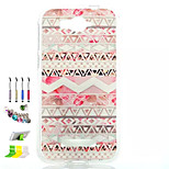 Waves Pattern Painted Soft Phone Case And Dust Plug Stylus Pen Stand Combination for Alcatel C7