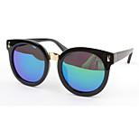 Women's Mirrored 100% UV400 Round Sunglasses