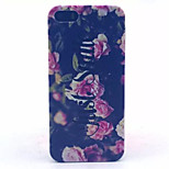 Chinese Rose Pattern PC Hard Case For iPhone 5/5S