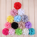 5Pcs DIY Handmade Multicolor Chiffon Flowers for Headbands, Scrapbooking and More Decoration(Random Delivery)