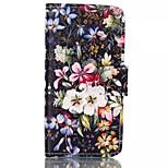 bloemmotieven patroon retro kwaliteit PU materiaal case voor iPhone 6