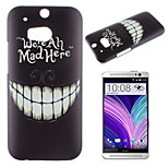 Tooth Pattern Painted PC Material Phone Case for HTC M8