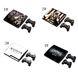 Cobertura Decal Adesivo Skin para ps3 play station 3 Slim + 2 controladores de peles
