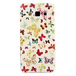 sommerfugl mønster TPU materiale softphone Taske til Samsung Galaxy a5